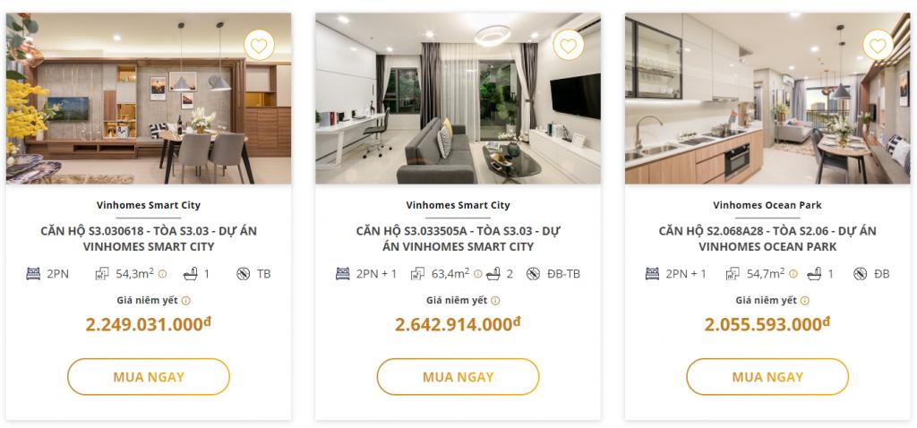 Lựa chọn mua căn hộ với Vinhomes Online